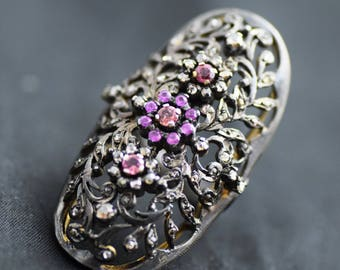 ring,rose cut diamond  92.5 silver victorian style partywear valentine ring,wedding ring