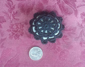 Crochet Lace Stone Gypsy Rock Fiber Art Home Decor