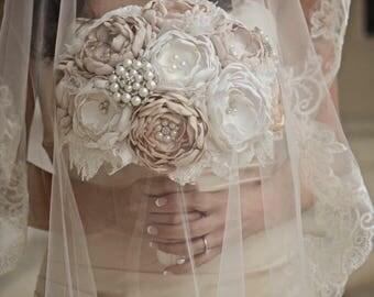 Vintage Bouquet, Bridal Bouquet, Brooch Bouquet, Lace Bouquet, Bling Bouquet