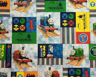 Thomas the Train Cotton Fabric by the Yard - 36x44 inches off the bolt