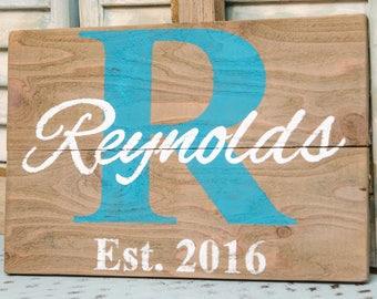Last Name Sign - Last Name Established Sign - Last Name Wood Sign - Family Established Wood Signs - Family Established Sign - Pallet Sign