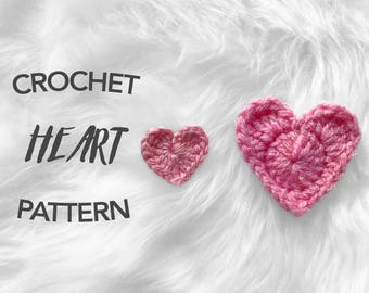 crochet heart pattern, crochet pattern, crochet heart, valentines day, digital pattern, instant PDF download, picture tutorial, GMT HEARTS
