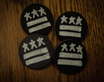 DC Flag Wood Pin