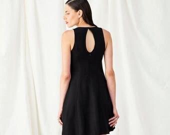 Christmas in July SALE, Little Black Dress, Party Dress, Black Evening Dress, Black Dress