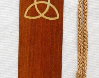 inlaid wooden bookmark