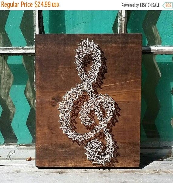January sale string art music note string art treble clef like this item prinsesfo Image collections