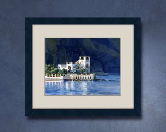 Watercolor of your property - Villa Kerylos in Beaulieu