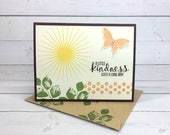 Handmade Butterfly Card - Hand Stamped Card - Stampin Up Card - Flower Card - Birthday Card - Nature Card - Thank You Card - Blank Card