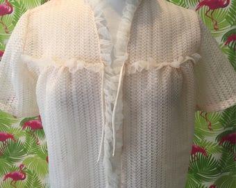 Vintage Tricozette knitting mills bed jacket