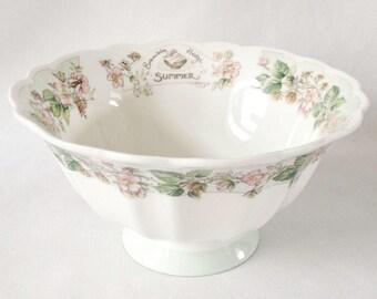 Summer footed bowl - Brambly Hedge - Royal Doulton