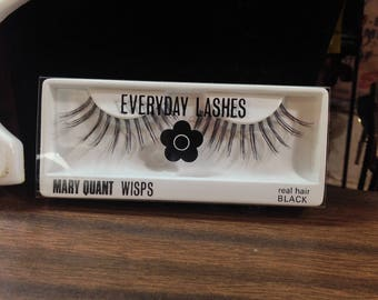 Mary Quant DeadStock 1960s Vintage Everyday Lashes unused 1960s in original Logo packaging