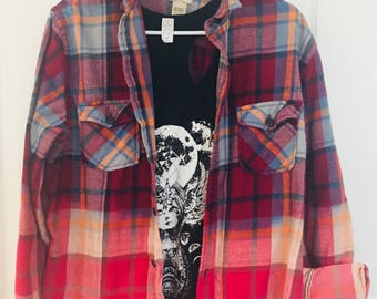 Grunged out upcycled flannel