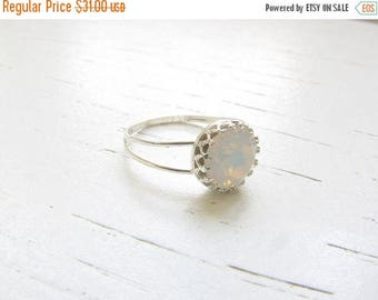 SALE - White opal ring - Opal ring - Silver Opal ring - Gift for her - Promise ring