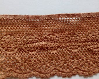 Dark nude French Calais lace