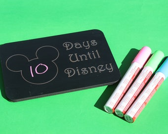 Disney Inspired 5x7 Magnetic Chalkboard Countdown