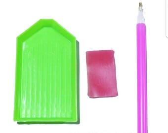 3D Diamond Painting Accessories / Tools for Diamond Painting / Pen, Wax, and Bead Tray