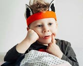 Fox Ears  - Fox Costume - Fantastic Mr Fox - Halloween costume - Kids Halloween - Boys costumes - Woodland Birthday Party - toddler costume