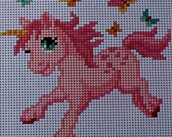 Unicorn pony, canvas only, ref AR1027