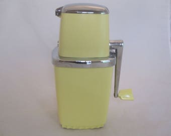 Vintage Butter Yellow Ice Crusher
