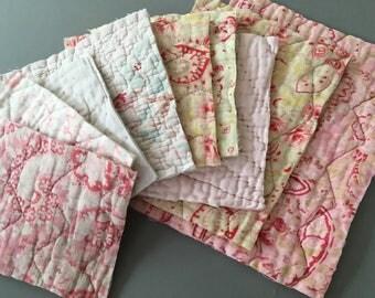 Vintage quilt bundle for projects, crafts, arts