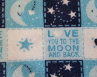 Love you to the Moon and Back Antipill Fleece (1.5 yards)