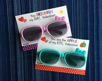 Sunglasses Valentine - Instant Download - Valentine's Day Digital Printable -  Digital Valentines - Kids Valentines - Stay Cool Valentine