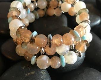 On Sale ! Wrap Around Beaded Bracelet