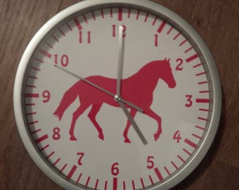 clock wall decor Red Horse
