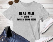 Twins Dad tshirt, New Dad, Pregnancy announcement, father, gift for husband, Tee, shirt, real men make twins shirt, drinking tee, beers