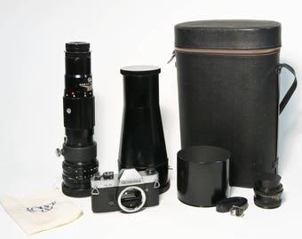 Vivitar 800mm f/8 Telephoto Lens, Rolleiflex SL35 Camera Body Rollei Planar 50mm