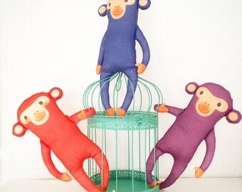 MR, MONKEY organic cotton animal doll