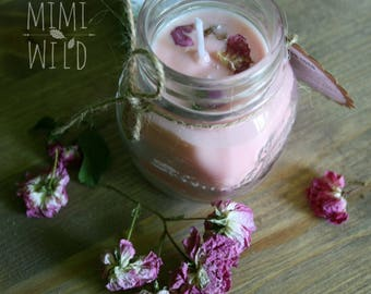 """""""Make a Wish"""" soy wax Candle Rose"""