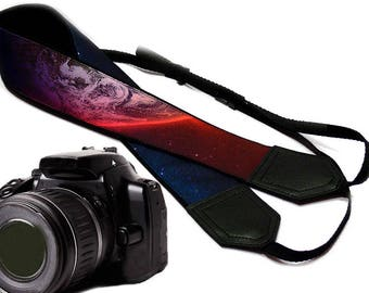 Galaxy camera strap. Cosmos Camera strap.  DSLR / SLR Camera Strap. Camera accessories.