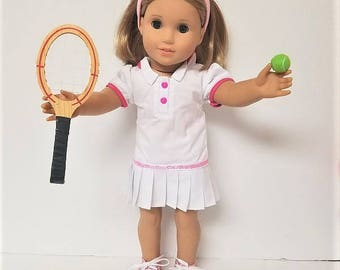 "Tennis Dress with for any 18"" doll like the American Girl"