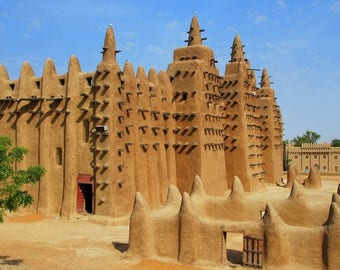 Great mosque of Djenne Mali placemat
