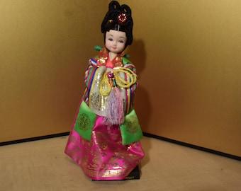 Vintage Korean Doll 10.5 Inches Tall