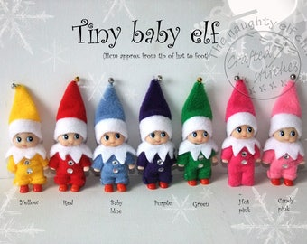 Tiny baby shelf elf miniature elf doll christmas decoration gift