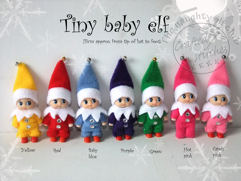Tiny baby shelf elf miniature elf doll christmas decoration