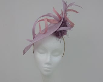 Gorgeous oversized petal Fascinator in Lilac and Pink.  Hatinator for Weddings, Racemeetings, Royal Ascot Hat, Mother of the Bride