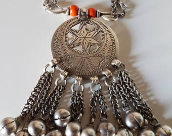 Omani necklace called Halka, Oman necklace, Oman Halka, Oman silver necklace, Ethnic Jewelry, Omani Jewelry, Tribal Jewelry