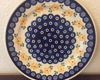 Polish Pottery Dinner/Serving Plate