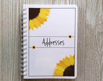 Sunflower Spiral Bound Address Book