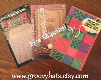 Set of 3 Vintage Coats and Clarks Pamphlets/Booklets 1976-1982 - Free Shipping!