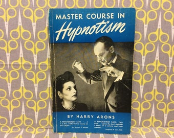 Master Course in Hypnotism by Harry Arons paperback book vintage