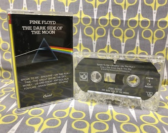 Dark Side of the Moon by Pink Floyd Cassette Tape prog rock David Gilmour Roger Waters Classic