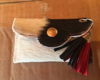 Credit card / cash cowhide pouch