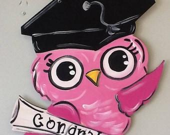 Graduation door hanger, graduation door sign, graduation sign, graduate door hanger, college graduate sign, high school graduate sign,