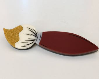 Dipped Paint Brush Brooch