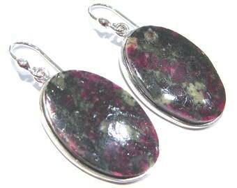 eudialyte earrings silver 925%