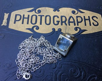 Antique Kodak Silver Camera View Finder Pendant, Jewelry, Necklace, Steampunk, Photographer, Hipster Gift